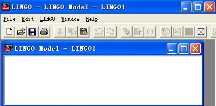 lingo求解线性规划问题的简单操作步骤