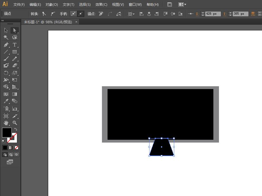 ai制作一款宽屏电视的图文方法步骤