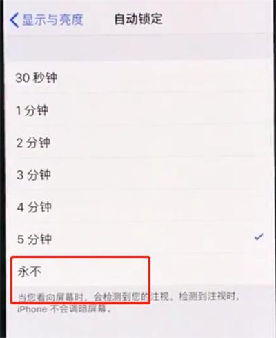 iphonexr中设置手机屏幕常亮的操作方法