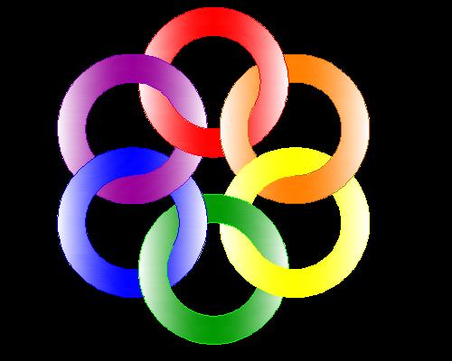 AutoCAD制作彩色六连环图形的操作方法