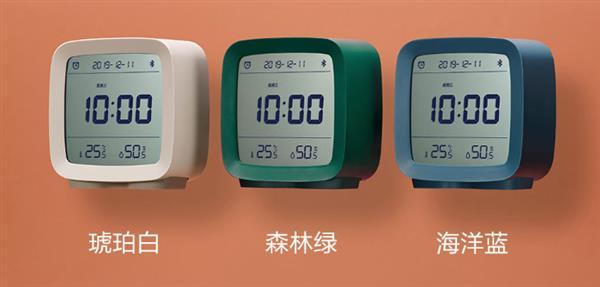 小米新品闹钟上线:三色可选 温湿度和小夜灯三合一