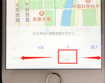 高德地图设置地图文字大小的操作步骤