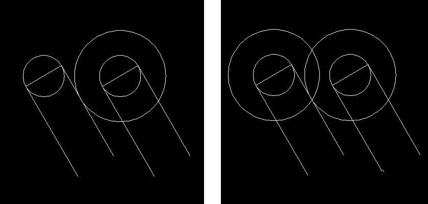 AutoCAD制作双心形图形的操作方法
