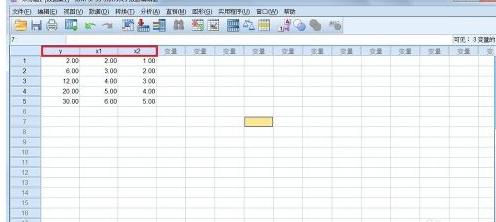 SPSS输入数据的教程步骤