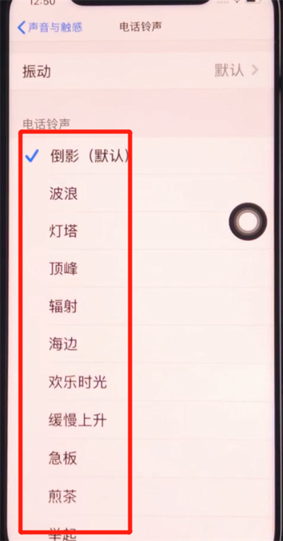 iphone11中设置铃声的简单步骤截图