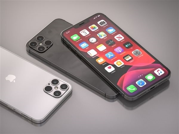 苹果5G手机iPhone 12系列渲染图再曝光:刘海缩小