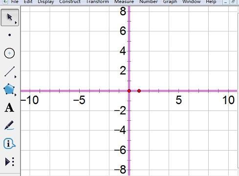 几何画板坐标轴刻度数字变大的方法步骤