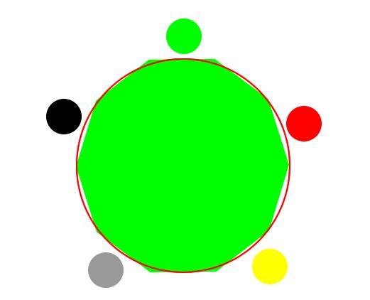 fireworks8绘制五行相生相克图的具体操作内容