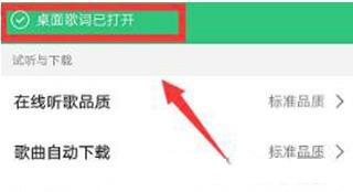手机QQ音乐怎么开启桌面歌词4