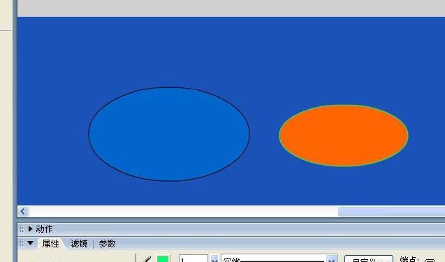 Flash中椭圆工具如何使用-Flash使用椭圆工具制作图形的操作步骤截图