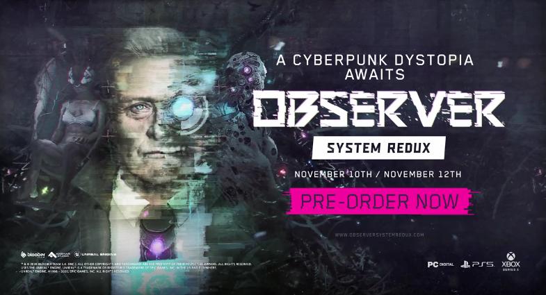 《观察者:系统还原》新演示公开 11月10日发售