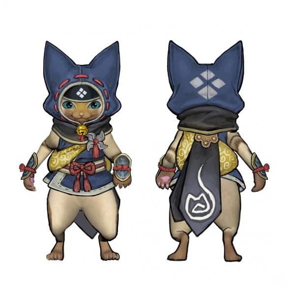 《怪物猎人:崛起》再次公布新设定图 猎人与艾露猫截图