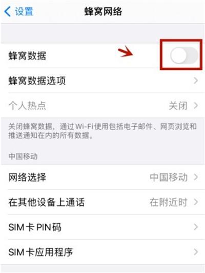 苹果手机数据流量在哪打开 苹果手机开启数据流量方法截图
