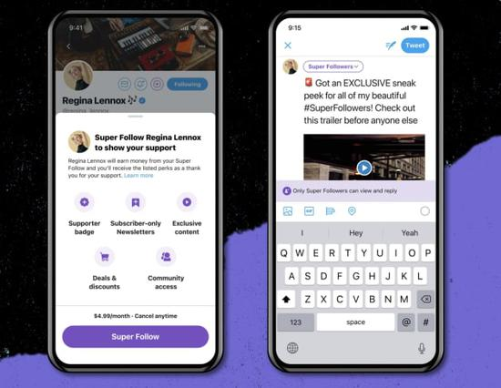 Twitter 將推出一系列新功能 包括超級關注訂閱、微社區等