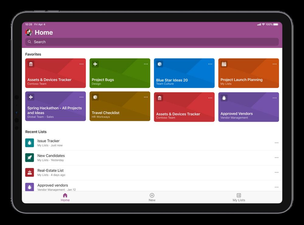 微软 Microsoft Lists 应用登陆苹果 iPadOS 应用商店截图