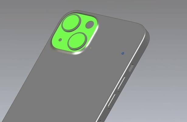 iPhone 13的CAD模型渲染圖曝光:后攝采用對角線排列