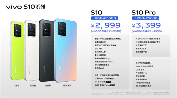 vivo正式发布S10和S10 Pro两款新机:售价2999元起截图